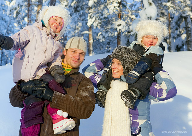 finnish father and children